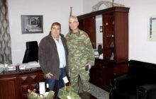 Εθιμοτυπική επίσκεψη του Διοικητού της ΣΜΥ Τρικάλων στο Δήμαρχο Πύλης