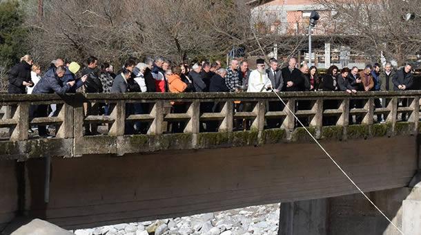 Κοινός Αγιασμός των υδάτων στη Γέφυρα Κοράκου