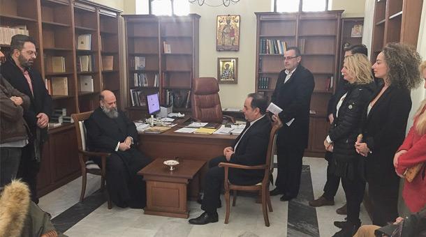 Τον Σεβασμιότατο κ.κ. Τιμόθεο επισκέφθηκε ο υποψήφιος Δήμαρχος Καρδίτσας Βασίλης Τσιάκος