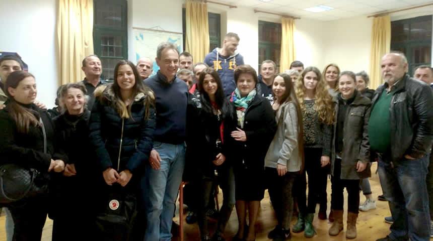 Επίσκεψη Χρ. Κατσαβριά-Σιωροπούλου στο Εσπερινό Λύκειο Καρδίτσας