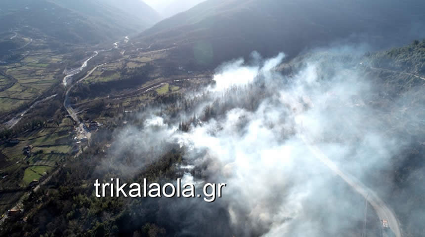 Καταστροφική πυρκαγιά στα ορεινά του Δήμου Πύλης (video-φωτο)