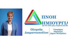 Το πρόγραμμα ομιλιών της Υποψηφίας Δημάρχου Δήμου Μουζακίου Ολυμπίας Διαμαντοπούλου