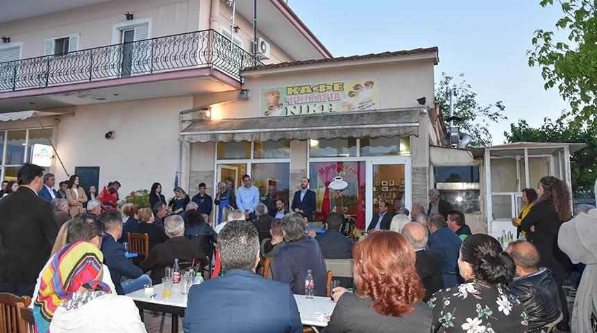 Θερμή υποδοχή επιφύλαξαν οι κάτοικοι της Κρανιάς και του Ριζοβουνίου στον υποψ. Δήμαρχο Μουζακίου κ. Φάνη Στάθη.