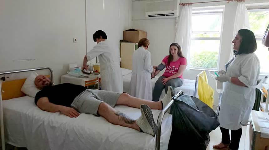 Με μεγάλη συμμετοχή ολοκληρώθηκε η αιμοδοσία στο Κ.Υ Μουζακίου