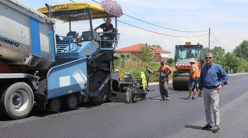 Στις εργασίες αποκατάστασης και συντήρησης του δρόμου Καρδίτσας – Μητρόπολης ο Περιφερειάρχης Θεσσαλίας