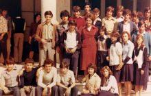 Συνάντηση μαθητών-τριών Γ' τάξης Γυμνασίου Μουζακίου Σχολικού Έτους 1976-77