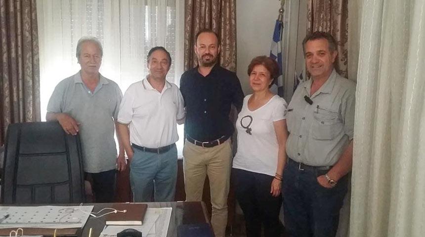 Συνάντηση του Δημάρχου Μουζακίου κ. Φάνη Στάθη με τον Σύλλογο Εργαζομένων ΟΤΑ ν. Καρδίτσας