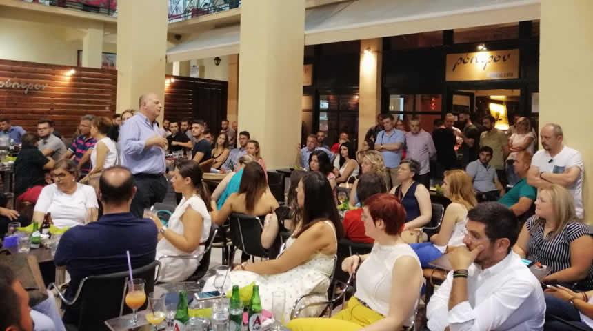 Με τους νέους της Καρδίτσας ο Κώστας Τσιάρας