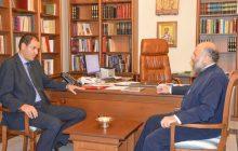 Επίσκεψη του Αντιπεριφερειάρχη Καρδίτσας Κ. Νούσιου στον Μητροπολίτη κ.κ. Τιμόθεο