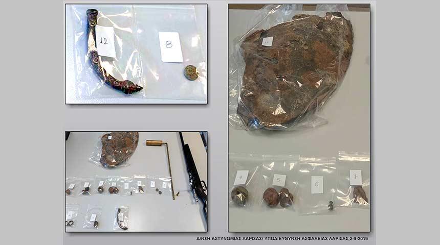 Συνελήφθη 39χρονος κατηγορούμενος για παράβαση της νομοθεσίας περί προστασίας αρχαιοτήτων