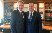 Συνάντηση του Υπουργού Δικαιοσύνης κ.Τσιάρα με τον Πρέσβη των Ηνωμένων Πολιτειών Geoffrey Pyatt