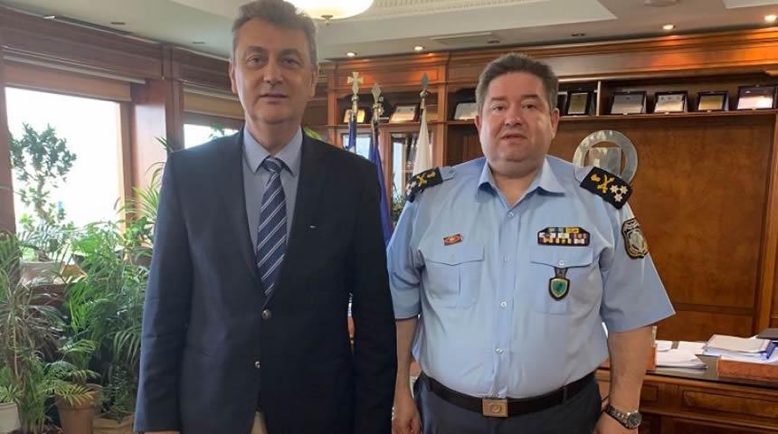 Συνάντηση του Βουλευτή Ν.Δ. Ν. Καρδίτσας Γ. Κωτσού με τον Αρχηγό της ΕΛ.ΑΣ. Μ. Καραμαλάκη
