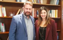 Συνάντηση του Δημάρχου Αργιθέας με την Υφυπουργό Παιδείας κα. Ζαχαράκη