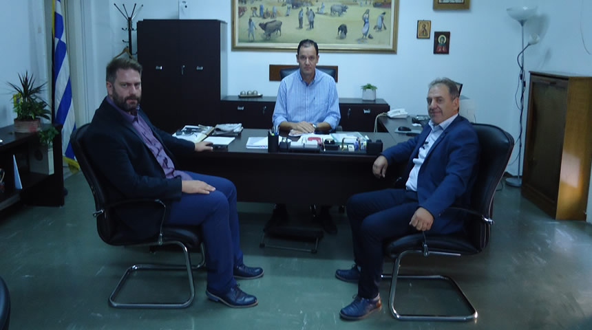 Επίσκεψη του Δημάρχου Αργιθέας Ανδρέα Στεργίου στον Αντιπεριφερειάρχη Καρδίτσας κ. Κωστή Νούσιο