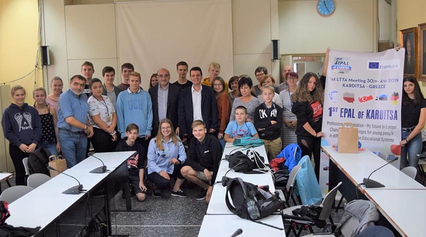 Οι νέοι της Ευρώπης στο Δημαρχείο της Καρδίτσας