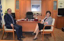 Επίσκεψη της βουλευτού κ. A. Σκόνδρα στο Δήμαρχο Καρδίτσας κ. Β. Τσιάκο