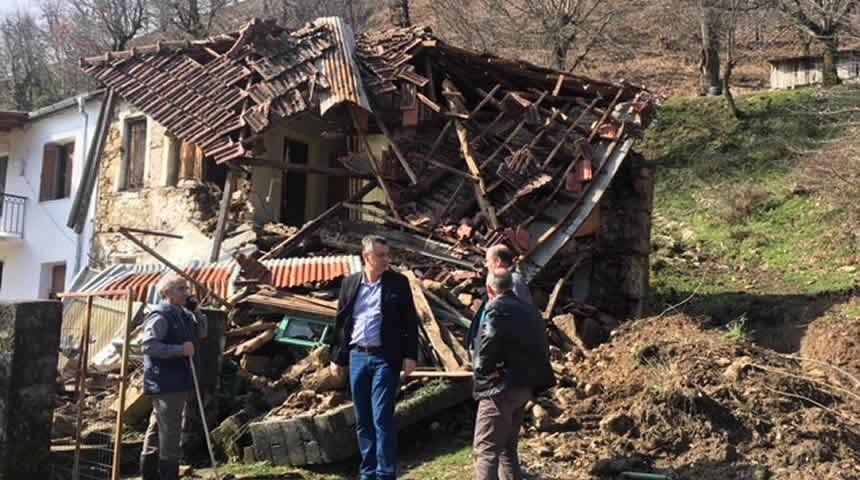 Γ. Κωτσός: Στεγαστική συνδρομή στους πληγέντες από κατολισθήσεις στην Τ.Κ. Βατσουνιάς