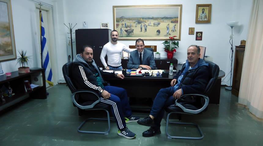 Συνάντηση Κ. Νούσιου με εκπροσώπους του Αθλητικού Συλλόγου ΑμεΑ «Μυρμιδόνες»