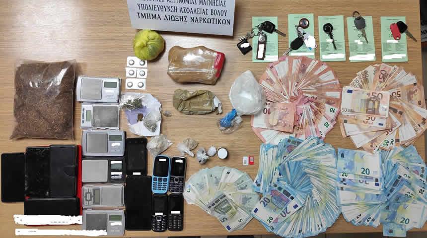 Συνελήφθησαν εννέα άτομα για διακίνηση ηρωίνης στην Μαγνησία