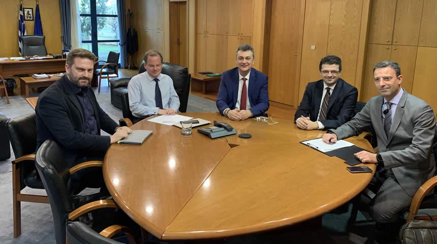Συνάντηση Γ. Κωτσού, Α. Στεργίου, Ι. Καλλέ με τον Υπ. Υποδομών κ. Καραμανλή για Αχελώο-Ε65-Σήραγγα Τυμπάνου