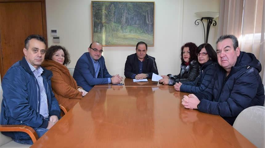 Το Δήμαρχο Καρδίτσας επισκέφτηκε ο Σύλλογος Εργαζομένων του Νοσοκομείου
