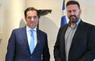 Συνάντηση Δημάρχου Αργιθέας με τον Υπουργό Ανάπτυξης και Επενδύσεων