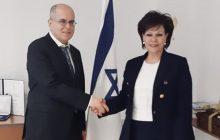 Συνάντηση Ασημίνας Σκόνδρα με τον Πρέσβυ του Ισραήλ κ. Yossi Amrani