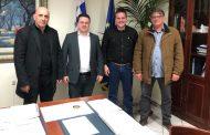 Συνάντηση μελών του ΔΣ της Ένωσης Εκτροφέων Ελληνικής Βραχυκερατικής Φυλής Βοοειδών με τον ΓΓ του ΥΠΑΑΤ