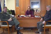 Επίσκεψη του Διοικητή του ΚΕΣΝ Ρούσσου στο Δήμαρχο Καρδίτσας