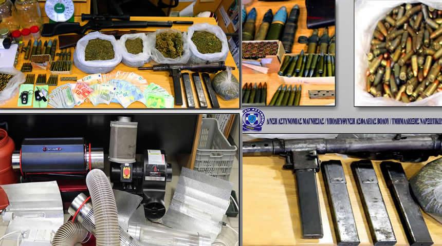 Συνελήφθησαν δύο άτομα για παραβάσεις των νόμων περί ναρκωτικών και περί όπλων, καθώς και της νομοθεσίας δεδομένων περί προσωπικού χαρακτήρα
