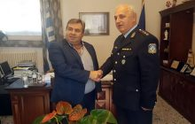 Ο νέος Αστυνομικός Διευθυντής Τρικάλων στο Δήμαρχο Πύλης