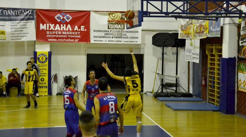 Νίκη του Γ.Σ. Μουζακίου επί του Κρόνου Τυρνάβου με 63-58 (Α2 ΕΣΚΑΘ)