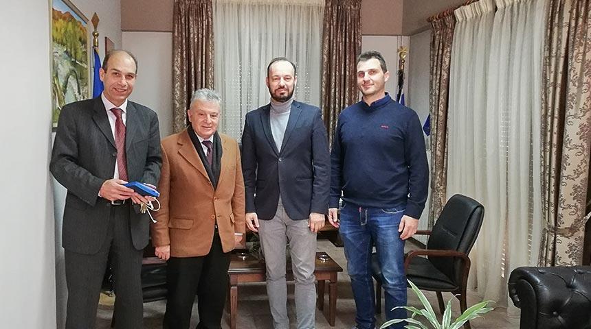 Συνάντηση στελεχών της Συνεταιριστικής Τράπεζας Θεσσαλίας με το Δήμαρχο Μουζακίου κ. Φάνη Στάθη