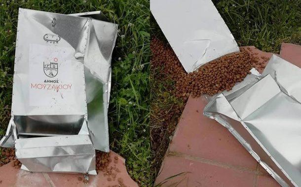 Βάνδαλοι κατέστρεψαν ταΐστρες για αδέσποτα που τοποθέτησε ο Δήμος Μουζακίου