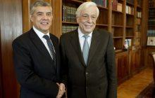 Συνάντηση με τον Πρόεδρο της Δημοκρατίας Πρ. Παυλόπουλο είχε ο Περιφερειάρχης Θεσσαλίας Κ. Αγοραστός