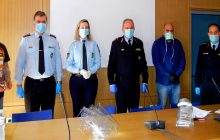 Δωρεά μασκών από το Πανεπιστήμιο Θεσσαλίας και την εταιρεία TED 3D στους αστυνομικούς της ΓΠΑΔ Θεσσαλίας