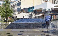 Πλύσιμο και απολύμανση στο κεντρικό τομέα της πόλης από συνεργεία του Δήμου Καρδίτσας