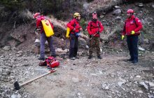 Συνδρομή της Ελληνικής Ομάδας Διάσωσης Καρδίτσας στην πυρκαγιά στο Τροβάτο Ευρυτανίας