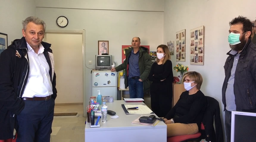 Τους εργαζομένους του προγράμματος «Βοήθεια στο Σπίτι» επισκέφτηκε ο Δήμαρχος Σοφάδων