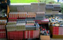 Συνελήφθη ένα άτομο στη Λάρισα με πάνω από 5.500 πακέτα αφορολόγητων τσιγάρων και 433 πακέτα αφορολόγητου καπνού
