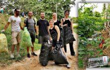 Φοιτητές, φοιτήτριες και ο Δήμαρχος Τρικκαίων μάζεψαν σκουπίδια που άλλοι πολίτες άφησανσε δημόσιους χώρους