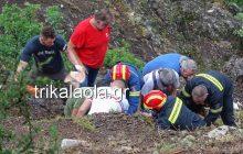 Τρίκαλα: Καρέ-καρέ η διάσωση ενός άντρα που έπεσε σε χαράδρα! (βίντεο-φωτό αποκλειστικό)