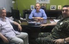 Συνάντηση του θεματικού Αντιπεριφερειάρχη Νίκου Καραγιάννη με τον Διοικητή του ΚΕΣΝ