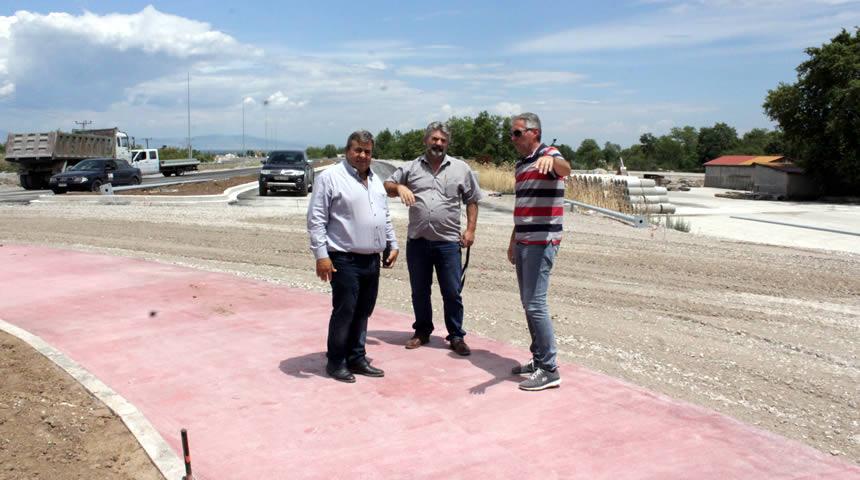 Επίσκεψη Μαράβα στο νέο υπό κατασκευή οδικό δίκτυο Πύλης