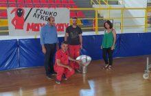 Εργασίες συντήρησης και αποκατάστασης πραγματοποιούνται στο Κλειστό Γυμναστήριο Μουζακίου