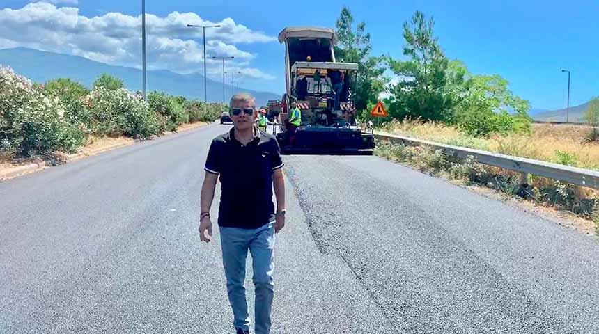 Βελτιώνει την οδική άνεση και ασφάλεια στην ε.ο. Λάρισας - Βόλου η Περιφέρεια Θεσσαλίας