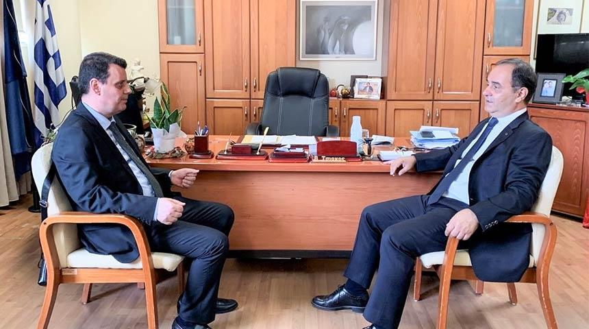 Το Δήμαρχο Καρδίτσας κ. Β. Τσιάκο επισκέφτηκε με ο νέος Διευθυντής Δ/βαθμιας Εκπαίδευσης