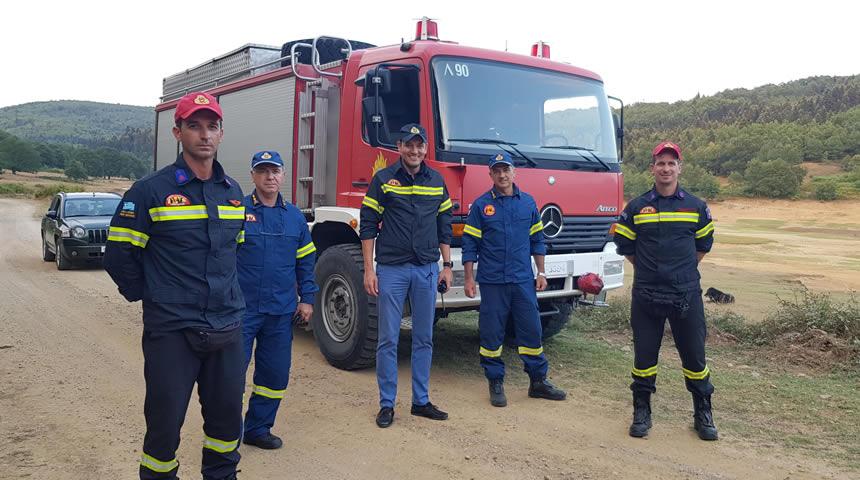 Περιπολία με τους πυροσβέστες ο Αντιπεριφερειάρχης Π.Ε Καρδίτσας κ. Κωστής Νούσιος