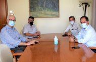 Επίσκεψη του Δημάρχου Λαρισαίων κ. Καλογιάννη στο Δήμαρχο Καρδίτσας κ. Β. Τσιάκο