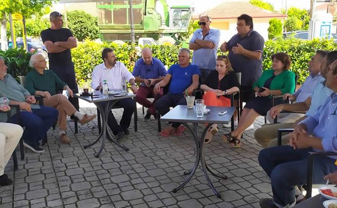 Κλιμάκιο του ΣΥΡΙΖΑ στις αγροτικές πληγείσες περιοχές του Ν. Καρδίτσας